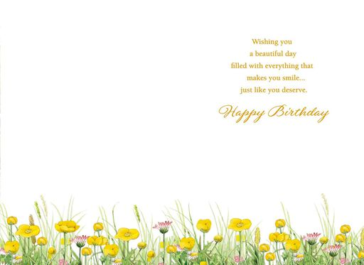 Marjolein Bastin Rabbit and Flowers Birthday Card,