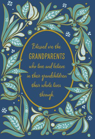 Blessed By You Grandparents Day Card