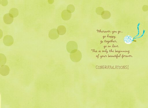 Bouquet Toss Convertible Wedding Congratulations Card,