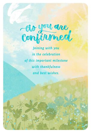 Important Milestone Confirmation Card