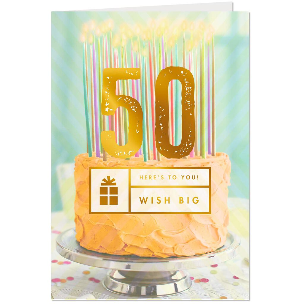 Wish Big 50th Birthday Card