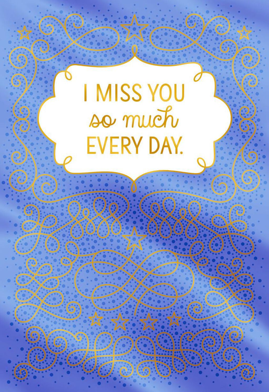 Miss You So Much Every Day Love Card Greeting Cards Hallmark