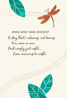 Dragonfly and Leaves Father's Day Card,