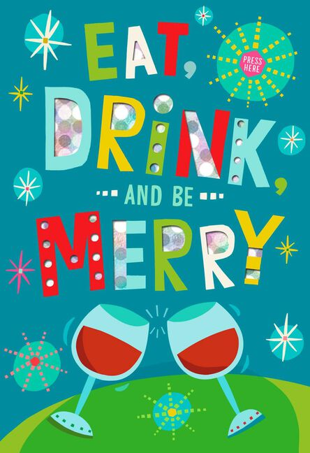 Eat drink and be merry musical christmas card greeting cards eat drink and be merry musical christmas card m4hsunfo
