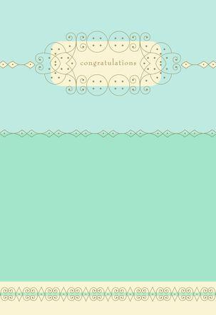 Lattice Framed Congratulations Card