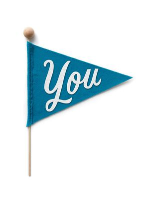 Pennant Flag Such a Fan Thinking of You Card
