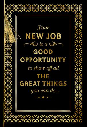Gold Filigree New Job Congratulations Card
