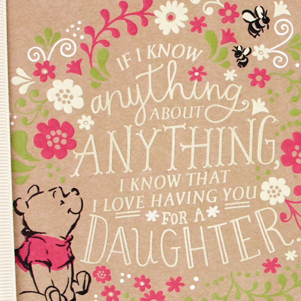Winnie The Pooh Celebrating You Daughter Birthday Card