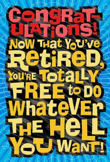 License to Chill Retirement Card,