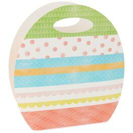"Easter Egg Die-Cut Medium Gift Bag, 9.5"", , large"