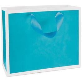 "Turquoise Medium Gift Bag, 7.75"", , large"