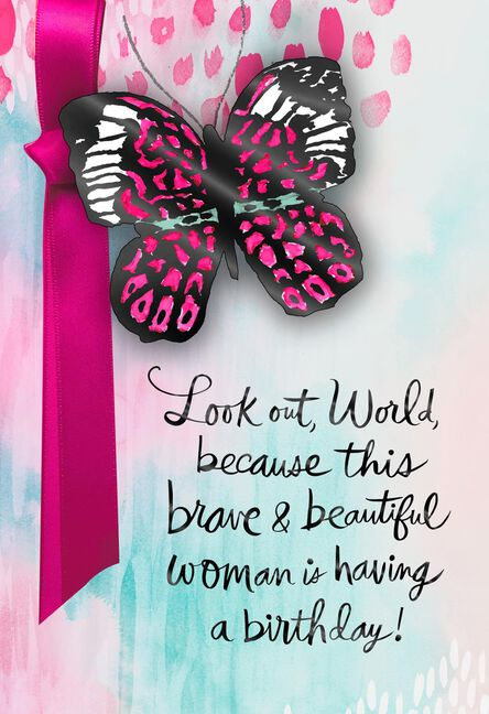 Brave And Beautiful Birthday Card Supporting Susan G Komen