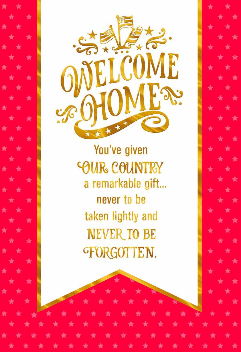 Welcome home banner military service appreciation card greeting welcome home banner military service appreciation card greeting cards hallmark m4hsunfo