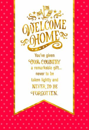 Welcome Home Banner Military Service Appreciation Card