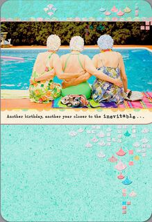 Swim Cap Ladies Funny Birthday Card,