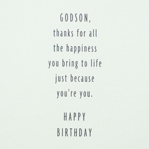 One Of A Kind Birthday Card For Godson