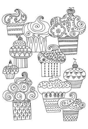 Sweet Treats Just Because Coloring Card