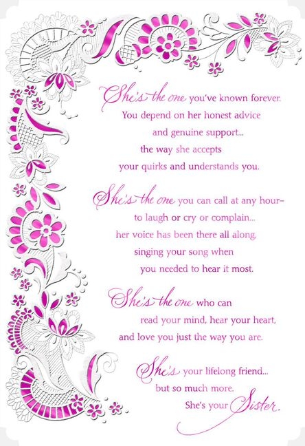 You Re My Lifelong Friend Birthday Card For Sister Greeting Cards