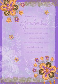 Blessed Are Grandmothers Mother's Day Card,