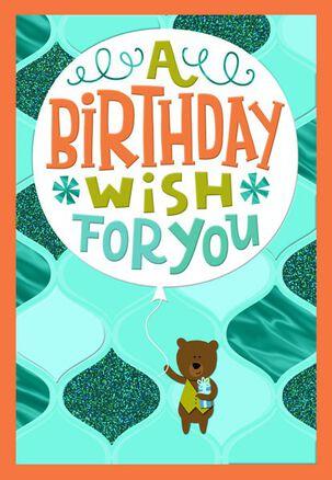 Bear and Balloon Birthday Card
