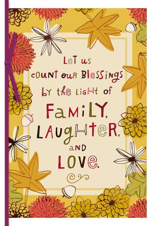 Family, Love and Laughter Thanksgiving Card