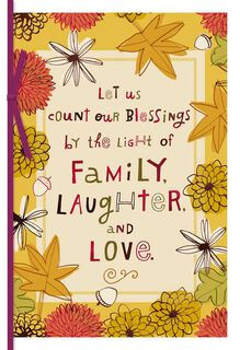Family, Love and Laughter Thanksgiving Card,