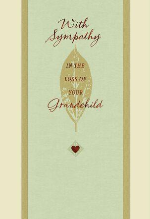 Bronze Leaf Loss of a Grandchild Sympathy Card