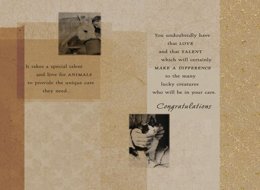 Veterinary Medicine Graduation Card,
