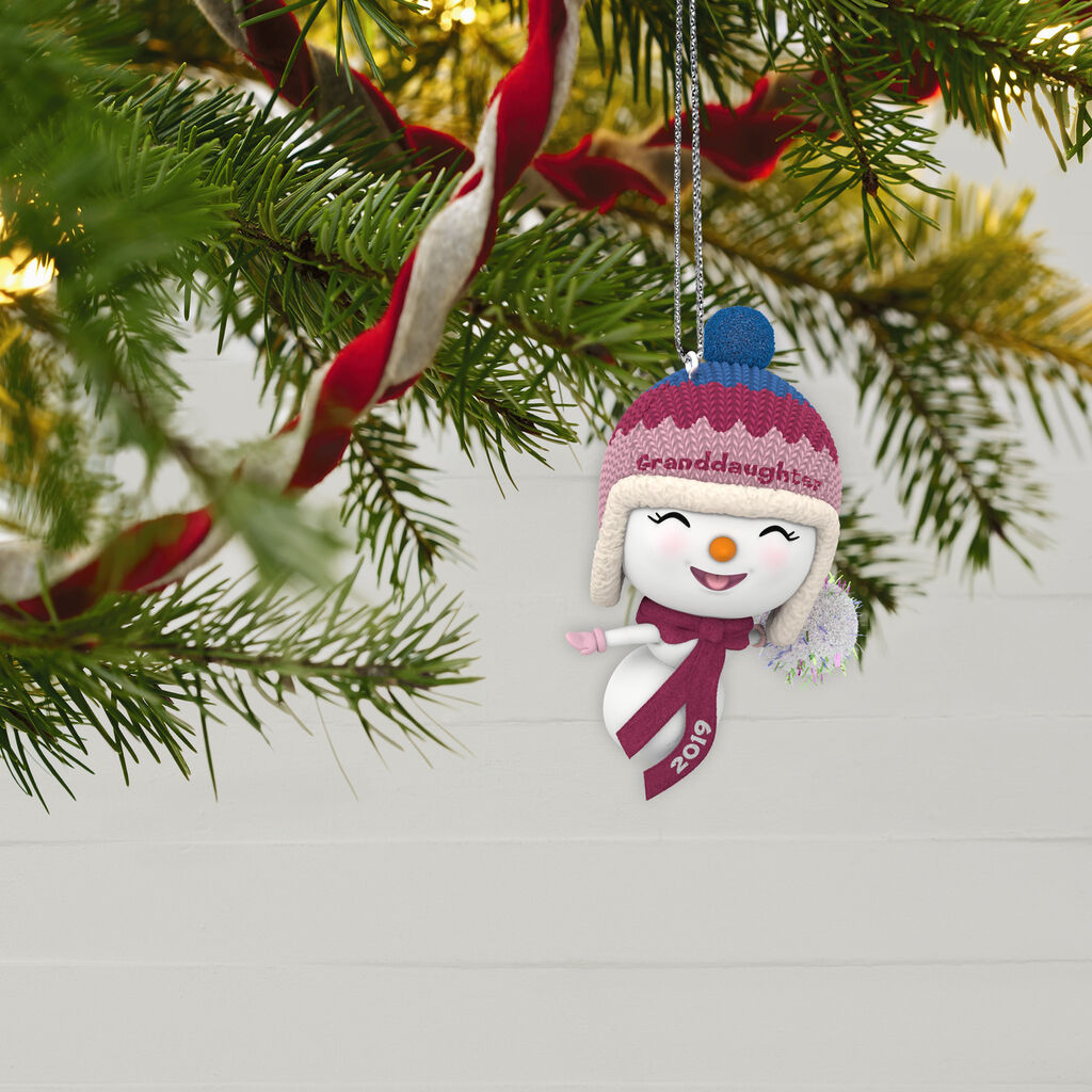Hallmark Christmas Ornaments 2019.Granddaughter Snowman 2019 Ornament