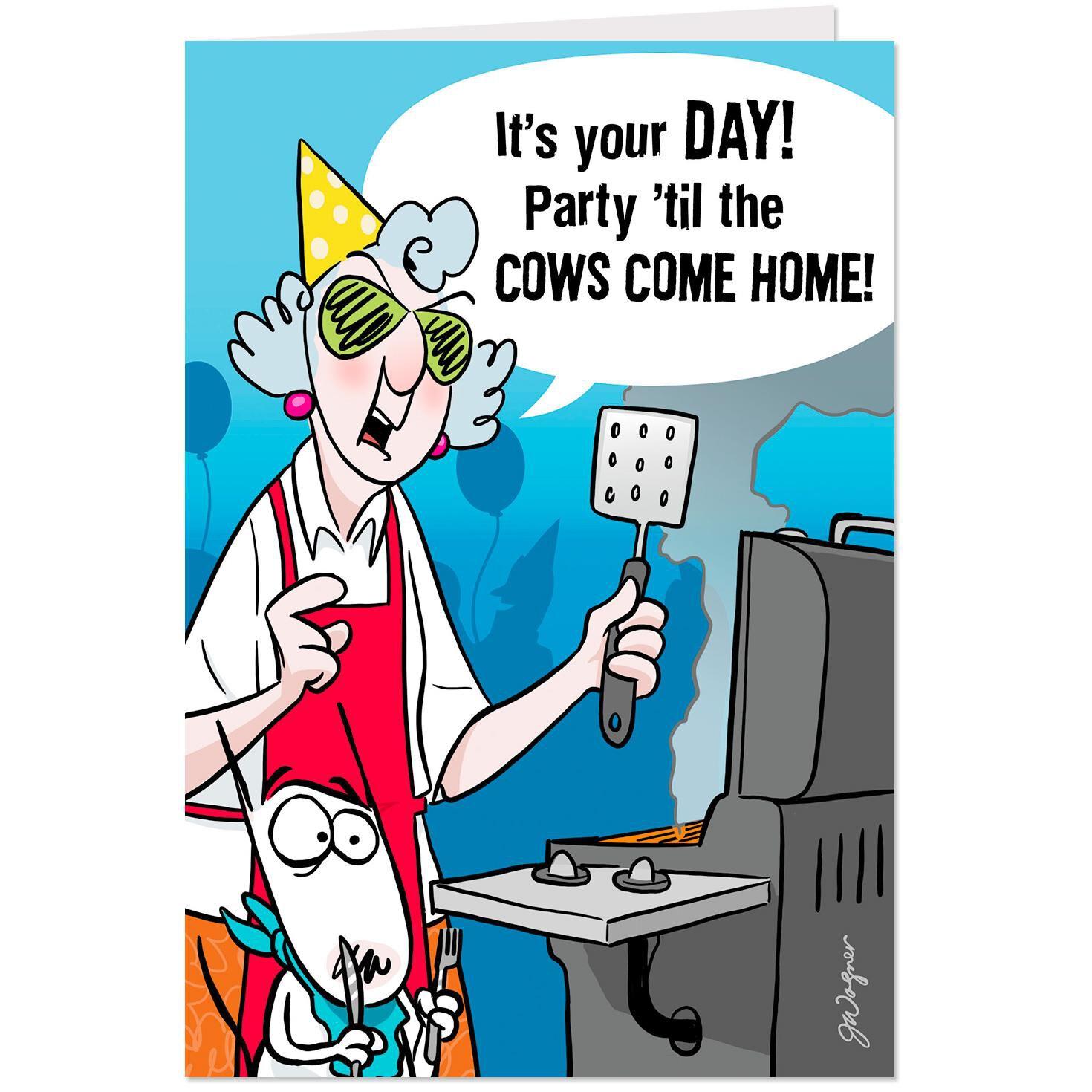 Maxine Party Til The Cows Come Home Pop Up Birthday Card Jpg 1024x1024 Hallmark Cartoon