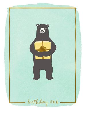 Bear Hug for You Birthday Card