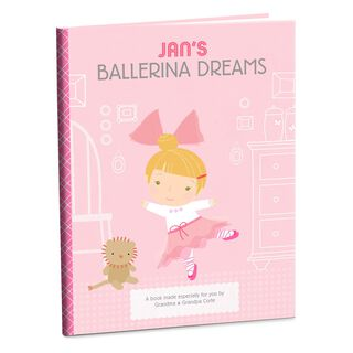 Ballerina Dreams Personalized Book,