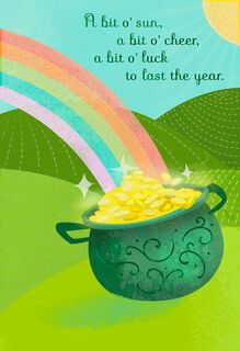 Pot of Gold St. Patrick's Day Card,