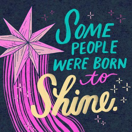 Born To Shine Musical Birthday Card Greeting Cards Hallmark