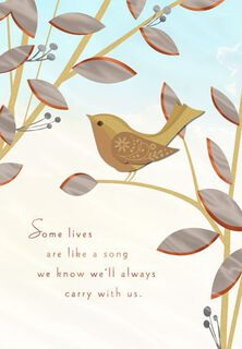 Carry a Song in Your Heart Sympathy Card,