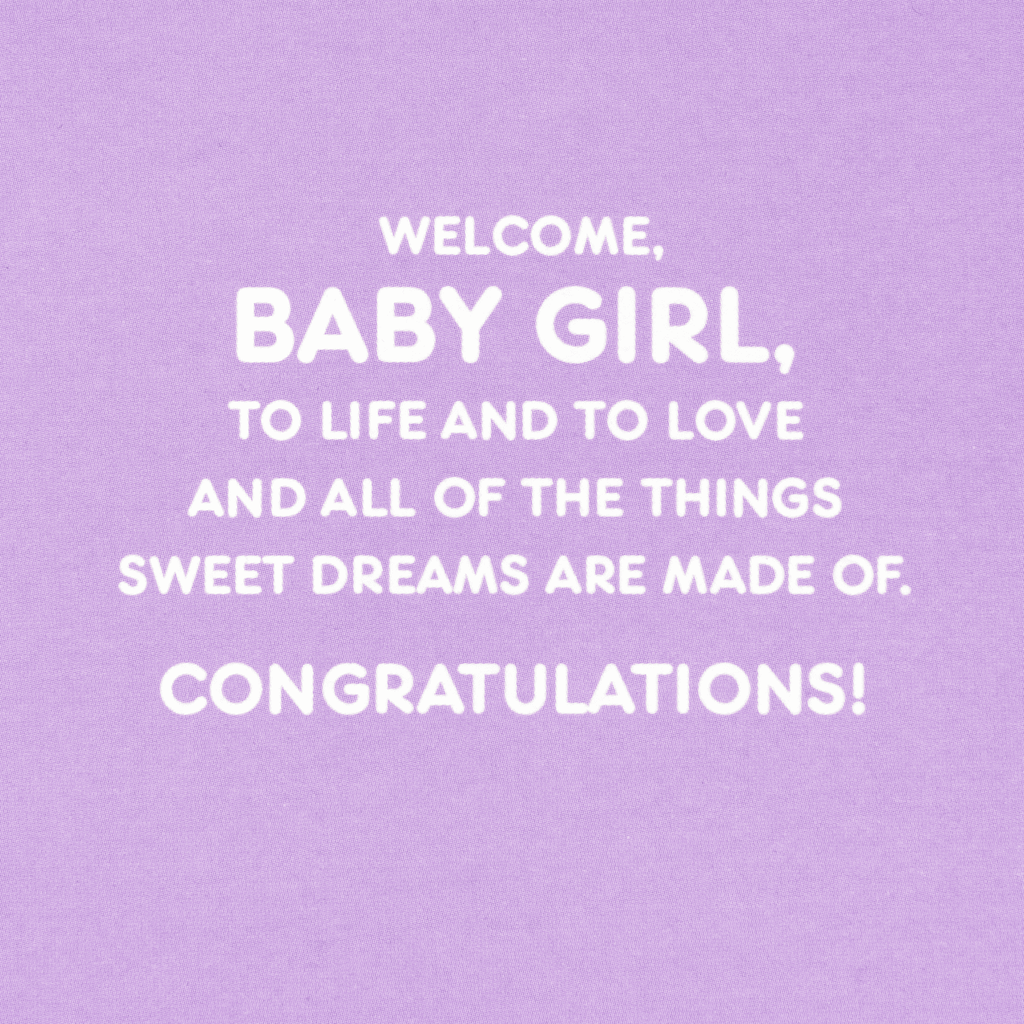 0e3e7405a540 Welcome to Life and Love 100 Days New Baby Card - Greeting Cards ...