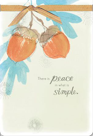 Simple Peace Thinking of You Card