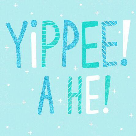 yippee new baby boy congratulations card greeting cards hallmark