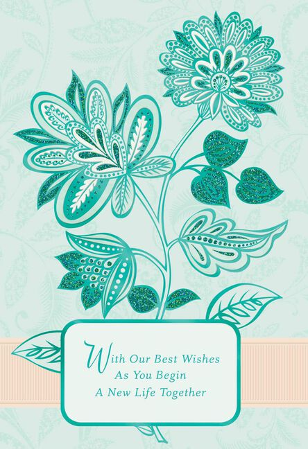 best wishes religious wedding card