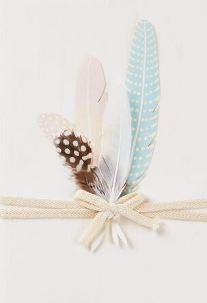 Bundled Feathers Blank Card