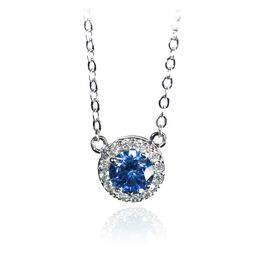 September Sapphire Birthstone Necklace, September Sapphire, large