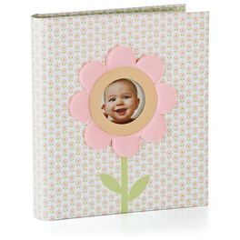 Pink Garden Three-Ring Baby Girl Book, , large