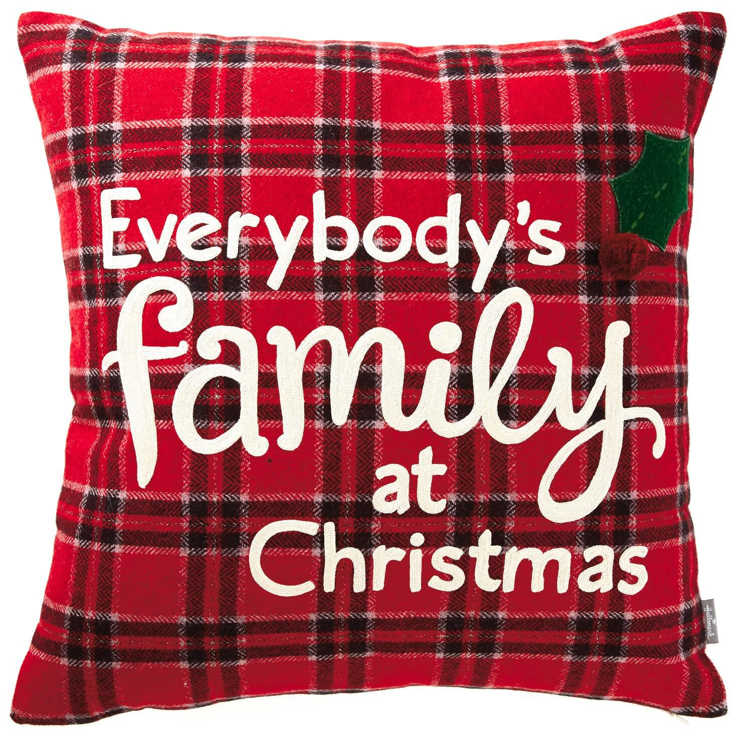 "Family at Christmas Throw Pillow, 19"" - Pillows"