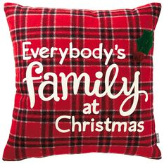 Family At Christmas Throw Pillow 18 Quot Pillows Amp Blankets