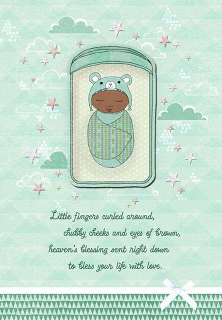 Swaddled bundle baby boy congratulations card greeting cards swaddled bundle baby boy congratulations card m4hsunfo