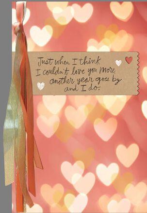 Soft Glow Hearts Husband Birthday Card