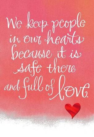 We Keep People in our Hearts Valentine's Day Card