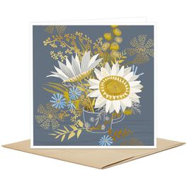 Cup of White Daisies Blank Card, , large