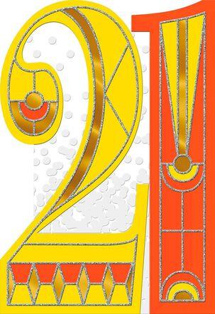 Art Deco 21st Birthday Card