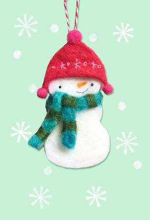 Snowman Ornament Christmas Card